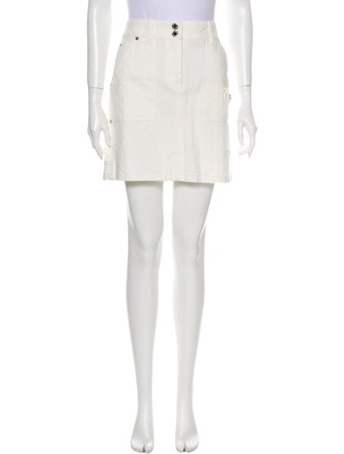 Louis Vuitton Mini Skirt White