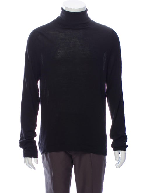 Louis Vuitton Turtleneck Long Sleeve Pullover Blac
