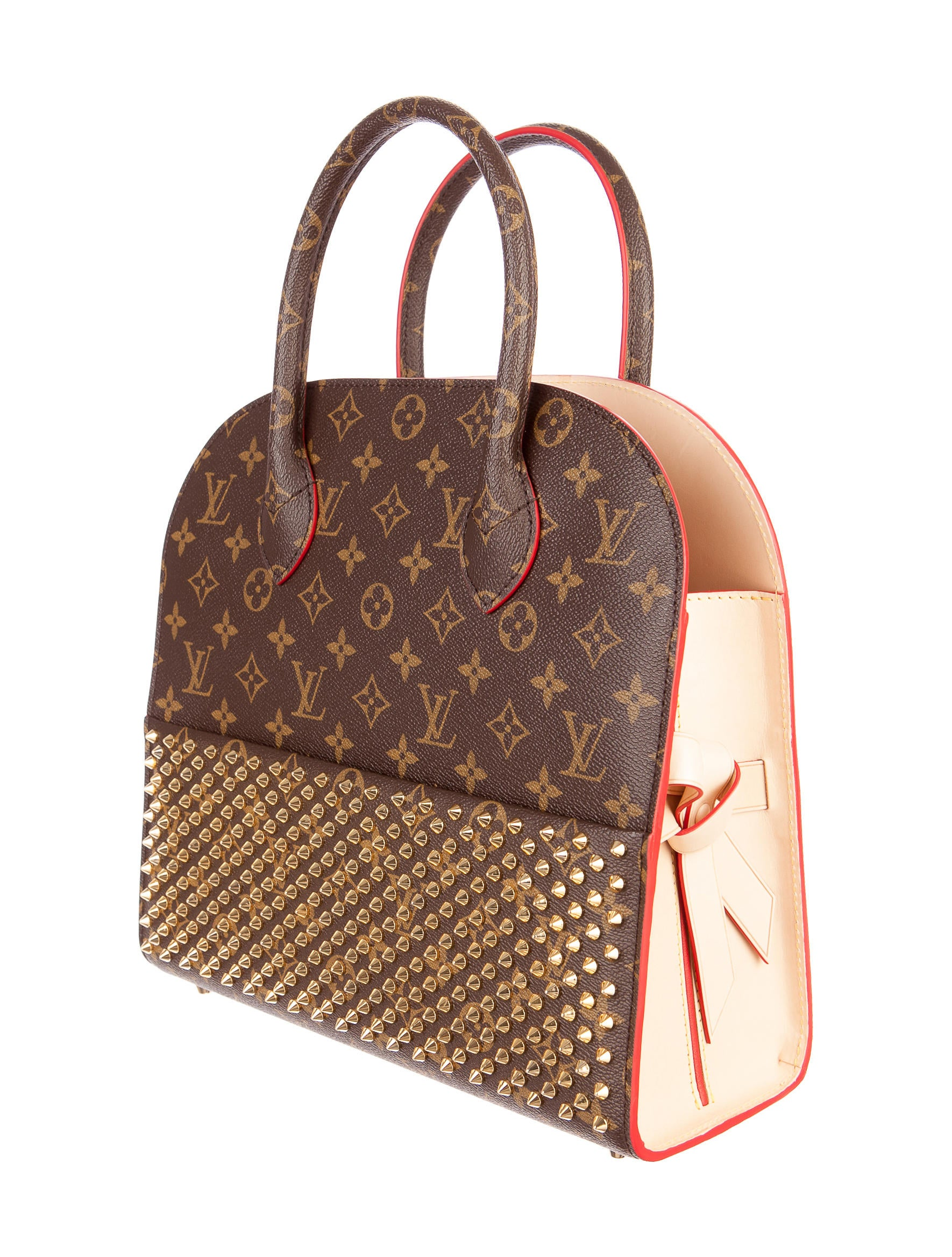 louis vuitton x christian louboutin shopping bag handbags lou35936 the realreal. Black Bedroom Furniture Sets. Home Design Ideas