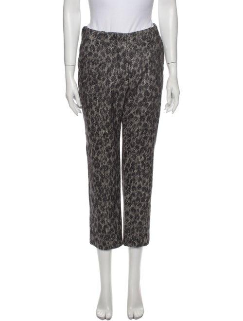 Louis Vuitton Animal Print Straight Leg Pants Grey