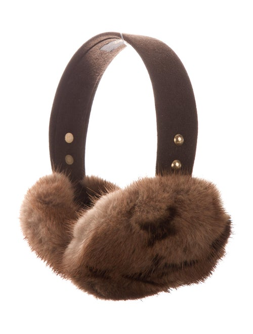 Louis Vuitton Monogram Mink Earmuffs Brown