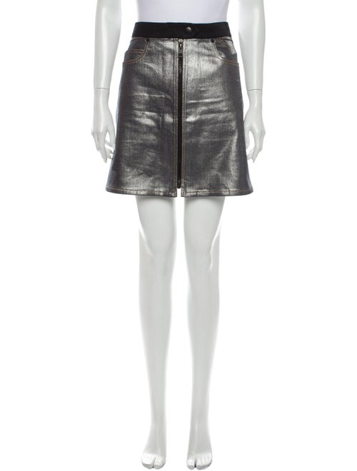 Louis Vuitton Mini Skirt Metallic