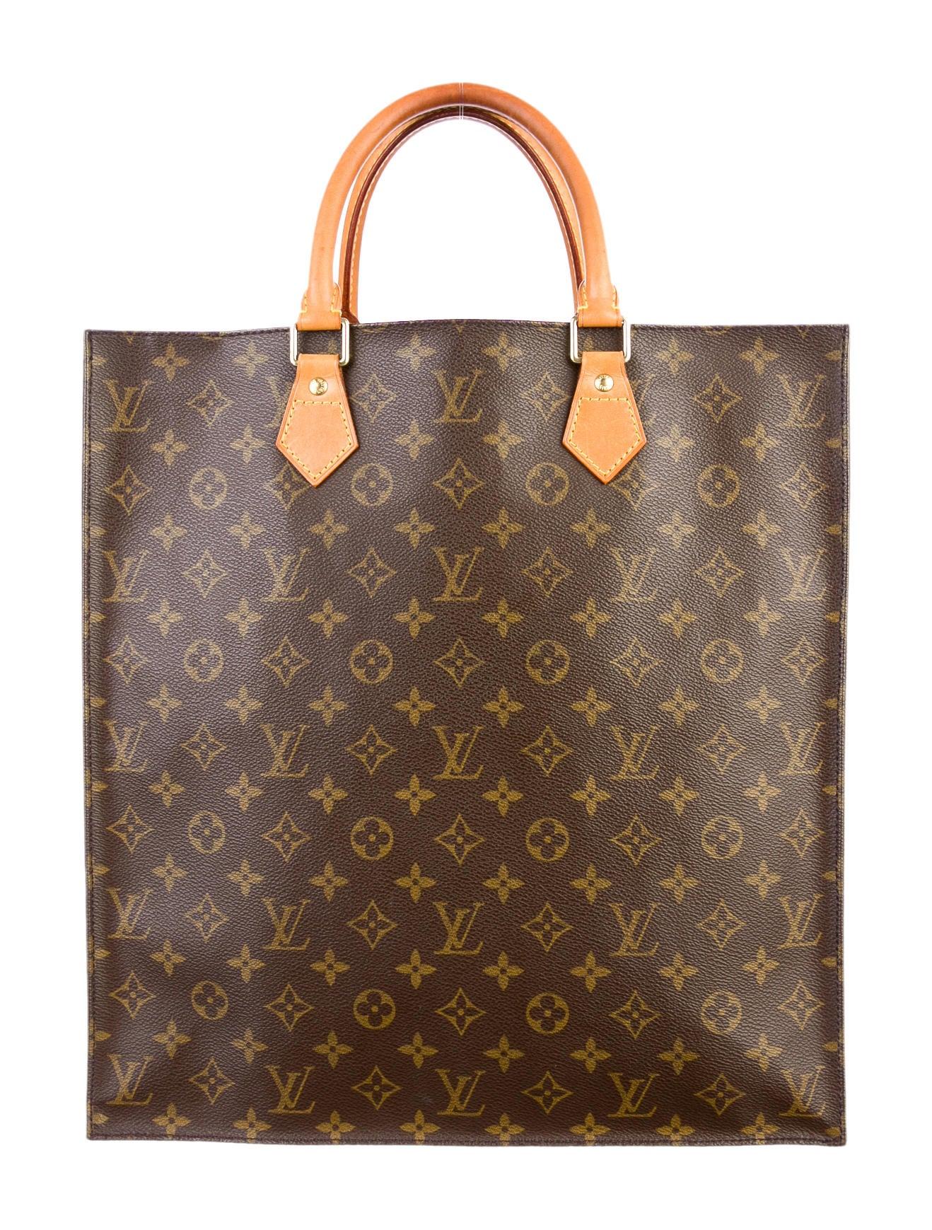 Louis vuitton monogram sac plat tote handbags lou36588 for Louis vuitton monogram miroir sac plat