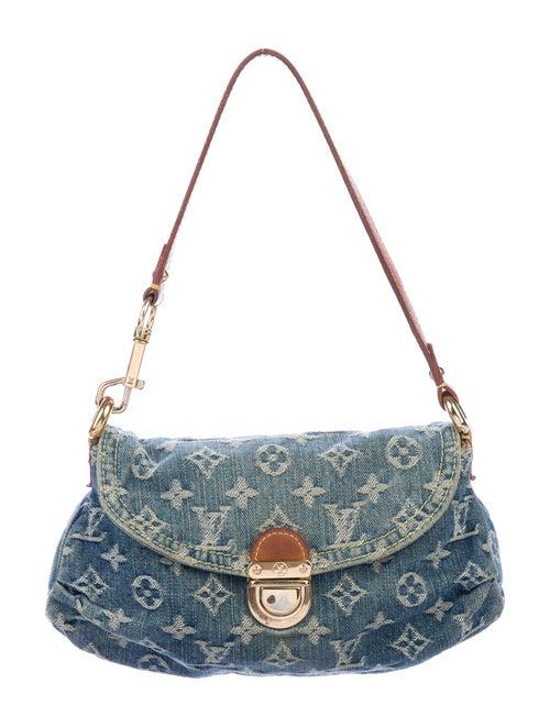 Louis Vuitton Monogram Denim Mini Pleaty Bag Blue