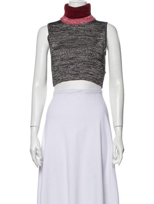 Louis Vuitton Turtleneck Sleeveless Crop Top Grey