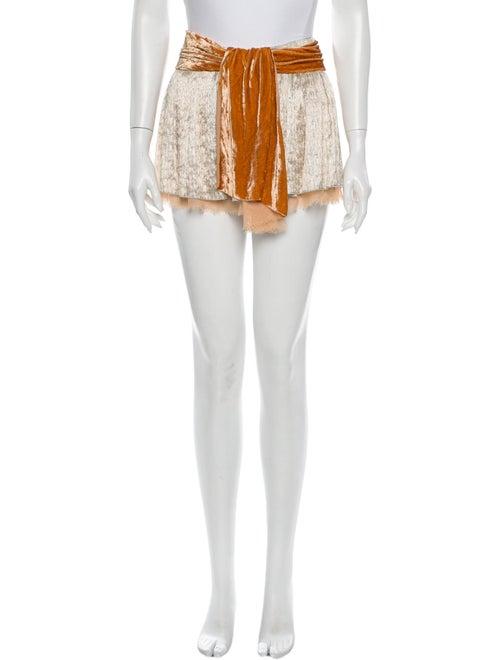 Louis Vuitton Colorblock Pattern Mini Skirt w/ Tag