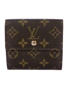 Louis Vuitton LV Monogram Coated Canvas Elise Wallet
