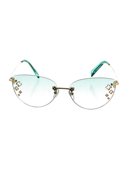 Louis Vuitton 2005 Desmayo Rimless Sunglasses Gold