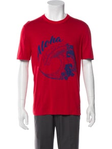 Louis Vuitton Graphic Print Crew Neck T-Shirt w/ Tags