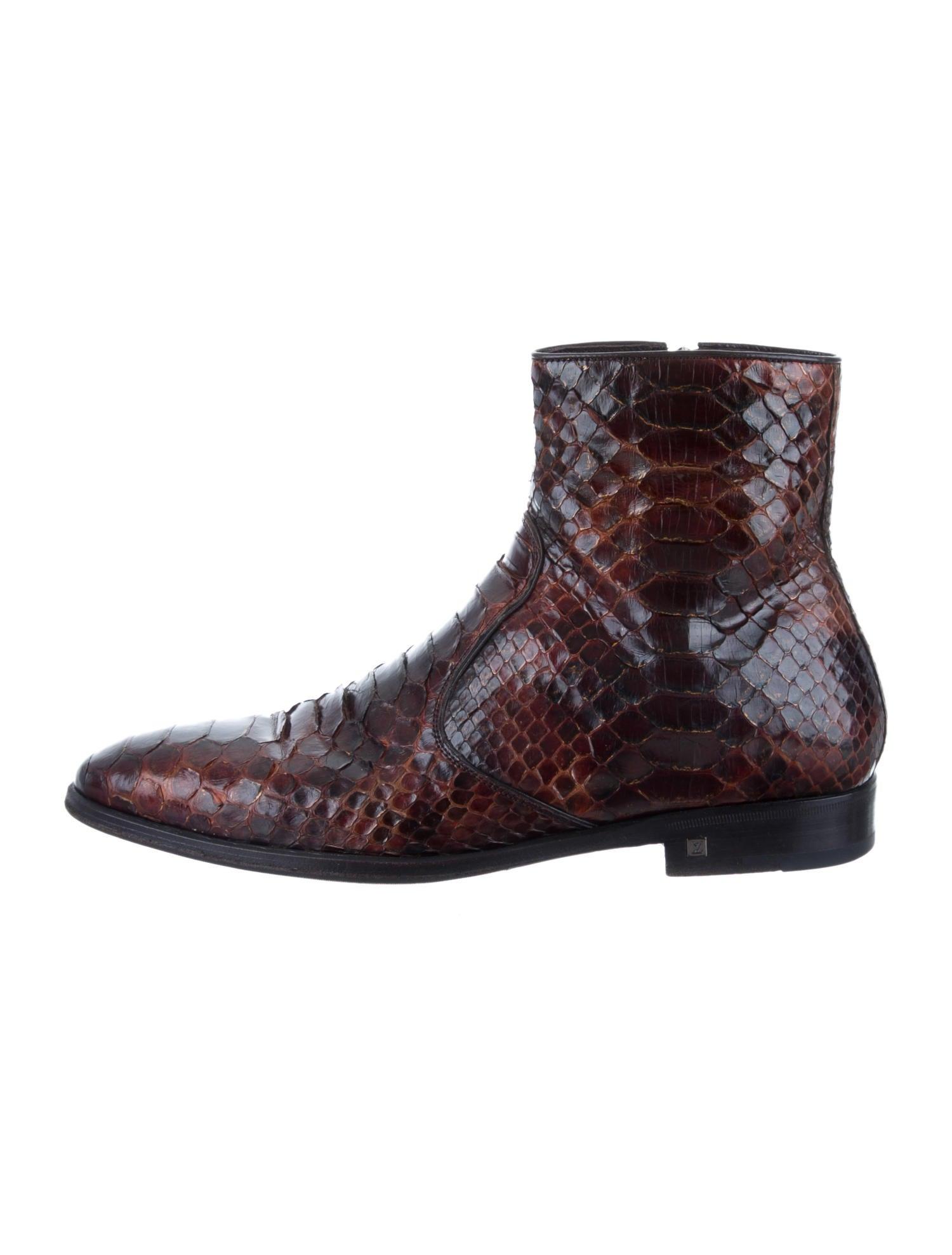 LOUIS VUITTON Python Boots pAlUxS