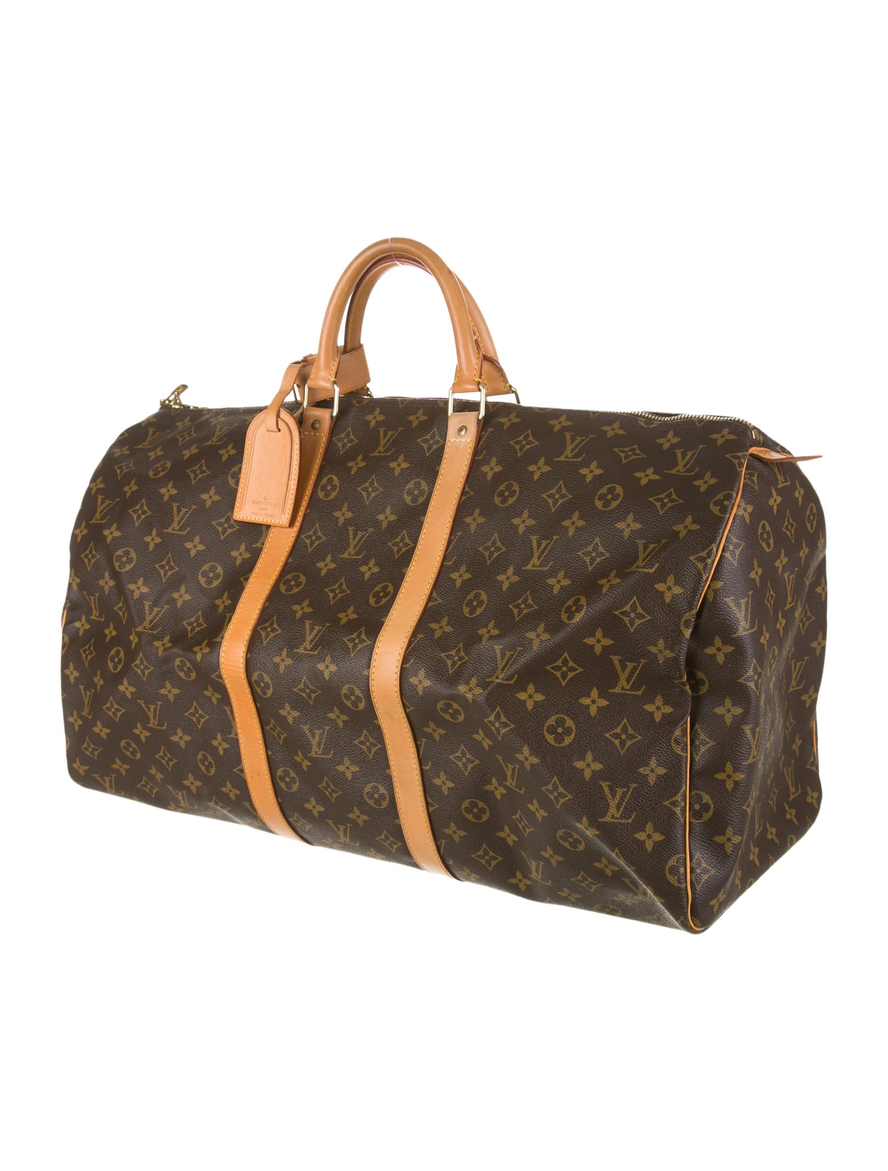 louis vuitton keepall 55 handbags lou43694 the realreal. Black Bedroom Furniture Sets. Home Design Ideas