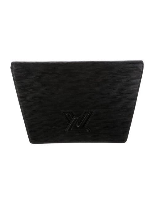 Louis Vuitton Vintage Epi Trapeze Clutch Black