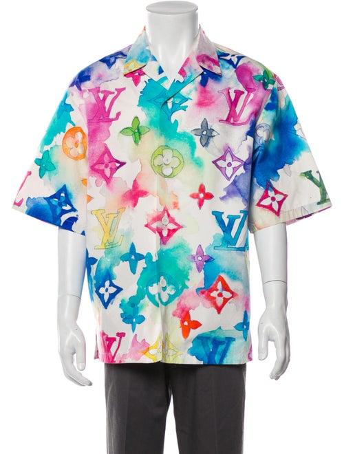 Louis Vuitton 2021 Monogram Pattern Shirt Blue