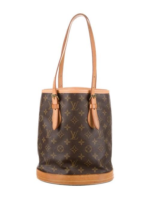 Louis Vuitton Monogram Petit Bucket Brown