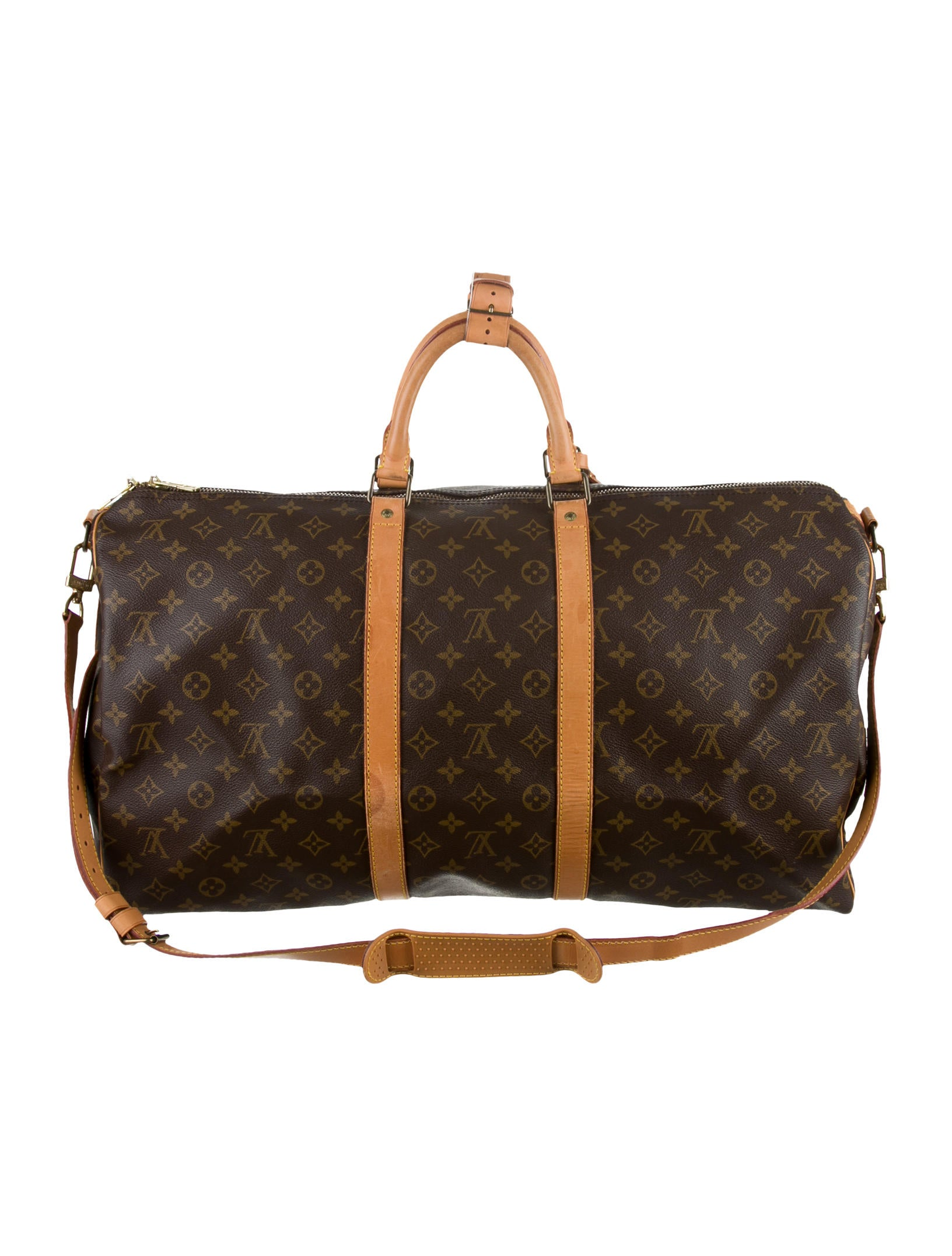 louis vuitton keepall bandouliere 55 handbags lou46464 the realreal. Black Bedroom Furniture Sets. Home Design Ideas
