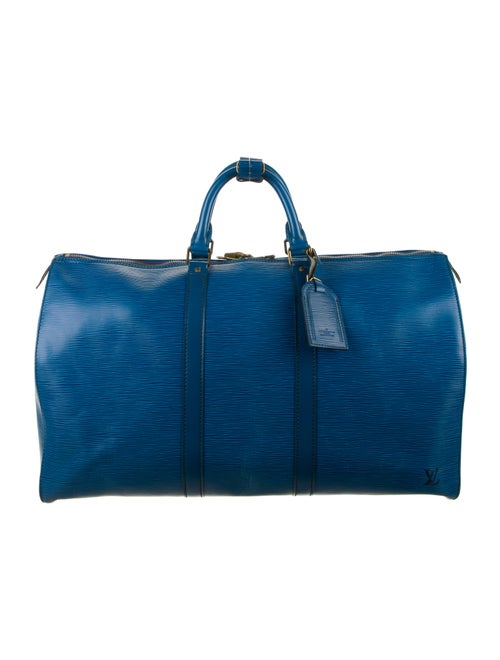 Louis Vuitton Epi Keepall 50 Blue