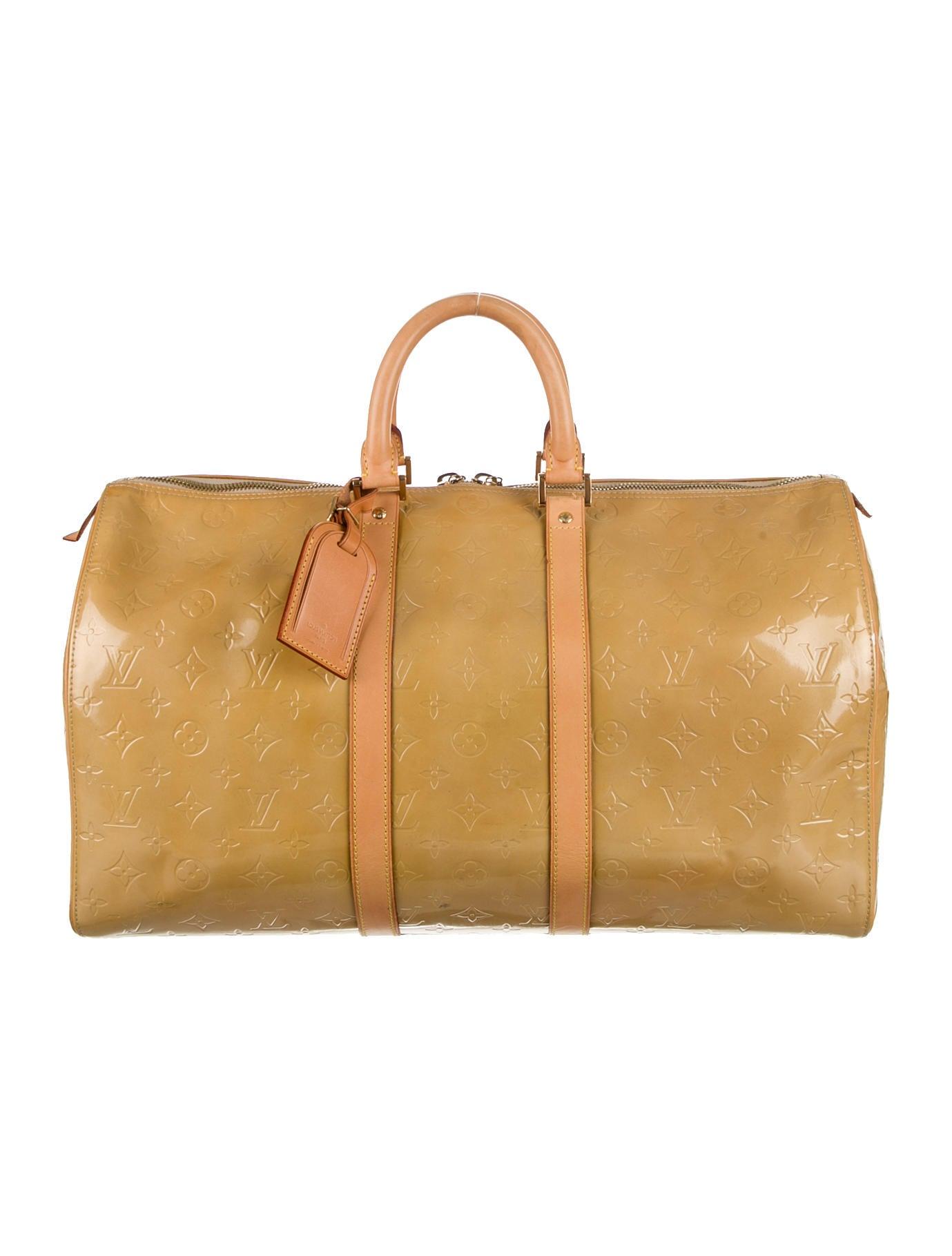 louis vuitton keepall 45 handbags lou47212 the realreal. Black Bedroom Furniture Sets. Home Design Ideas