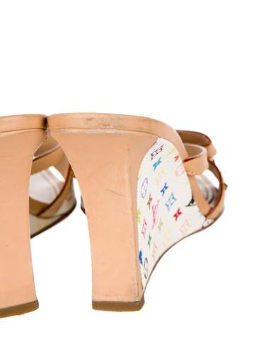 Monogram Wedge Sandals