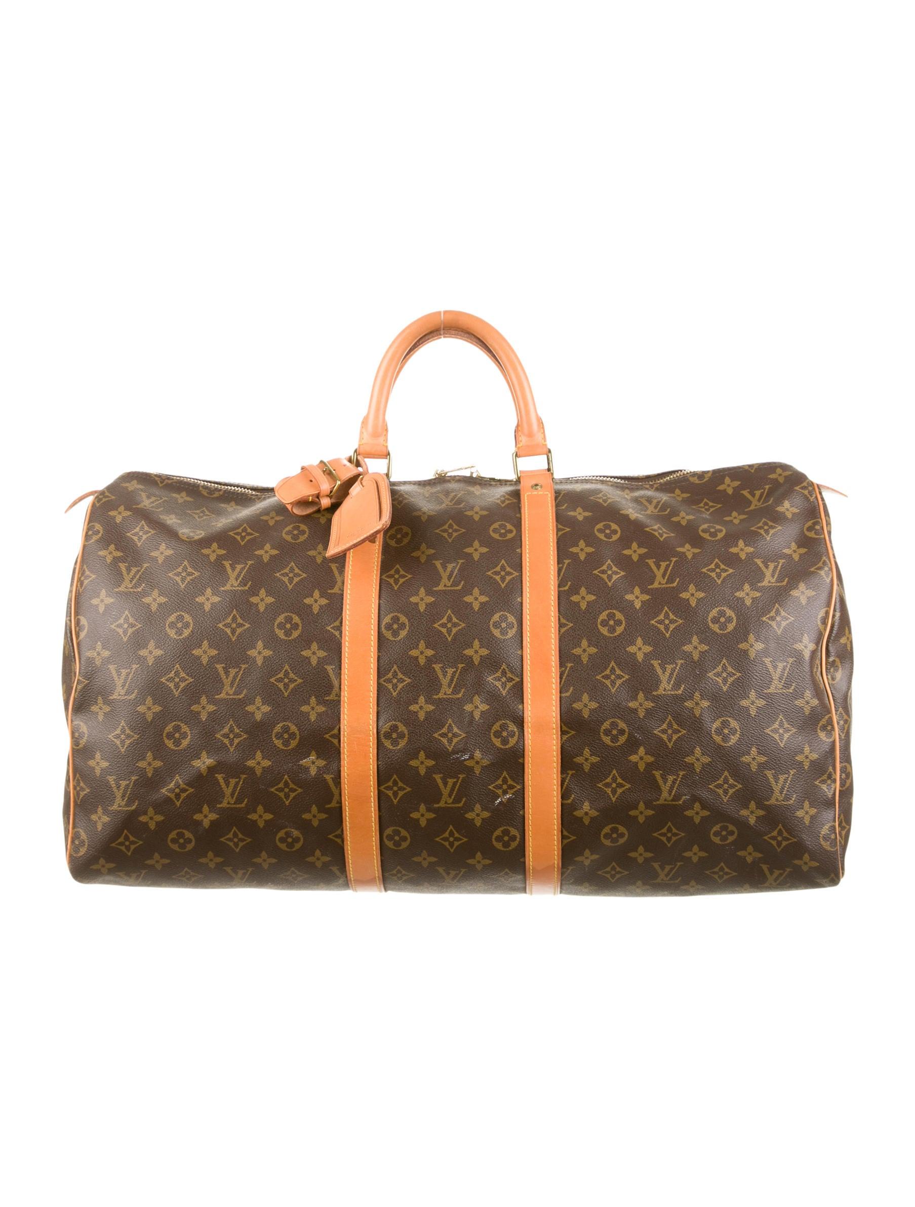 louis vuitton keepall 55 handbags lou52512 the realreal. Black Bedroom Furniture Sets. Home Design Ideas