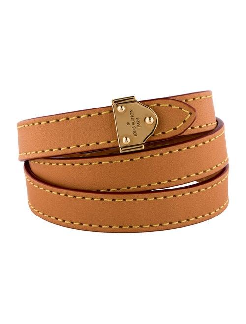 Louis Vuitton Triple Leather Wrap Bracelet Bracelets Lou55611