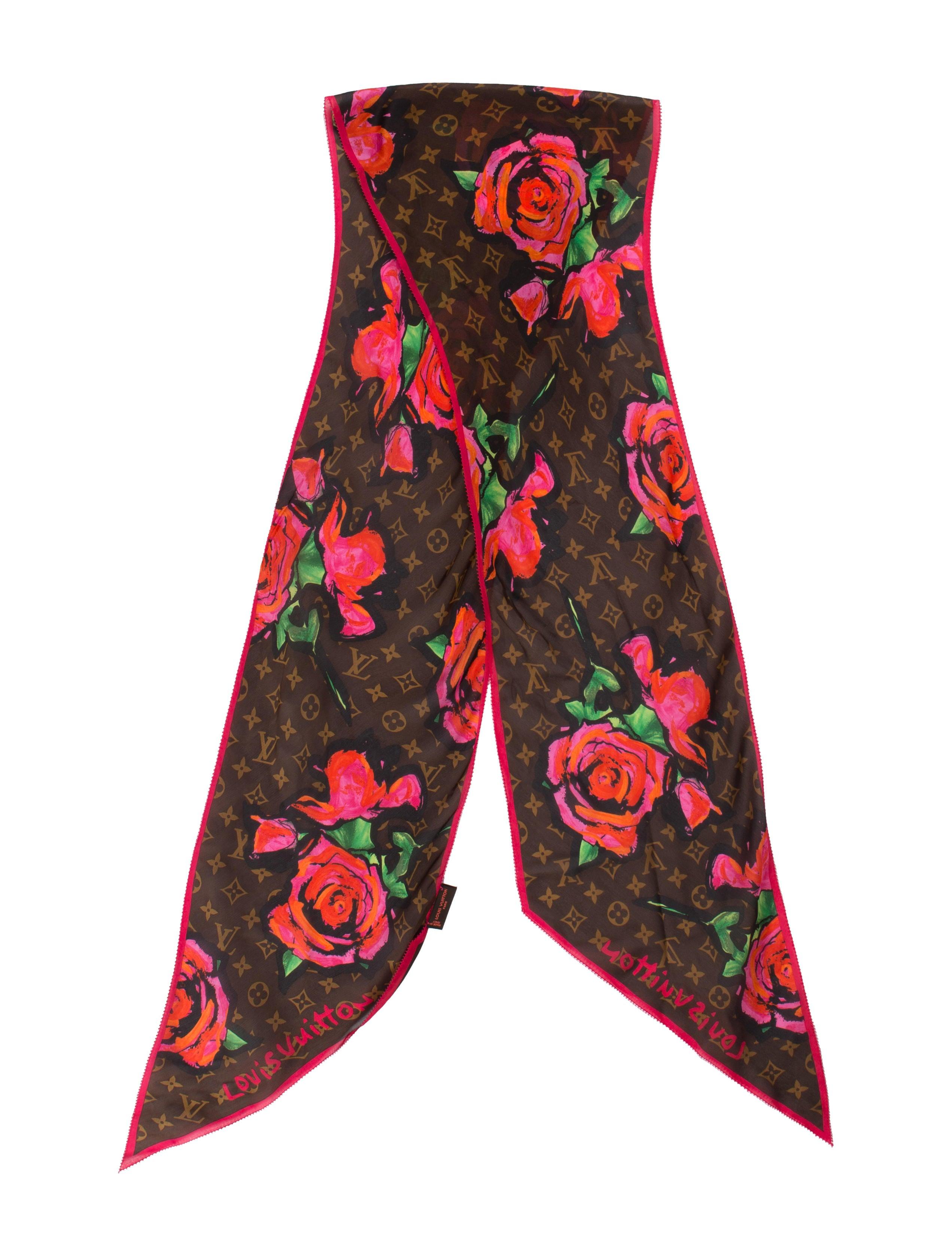 92d2a7af38c5 Louis Vuitton Monogram Roses Silk Scarf - Accessories - LOU56718 ...