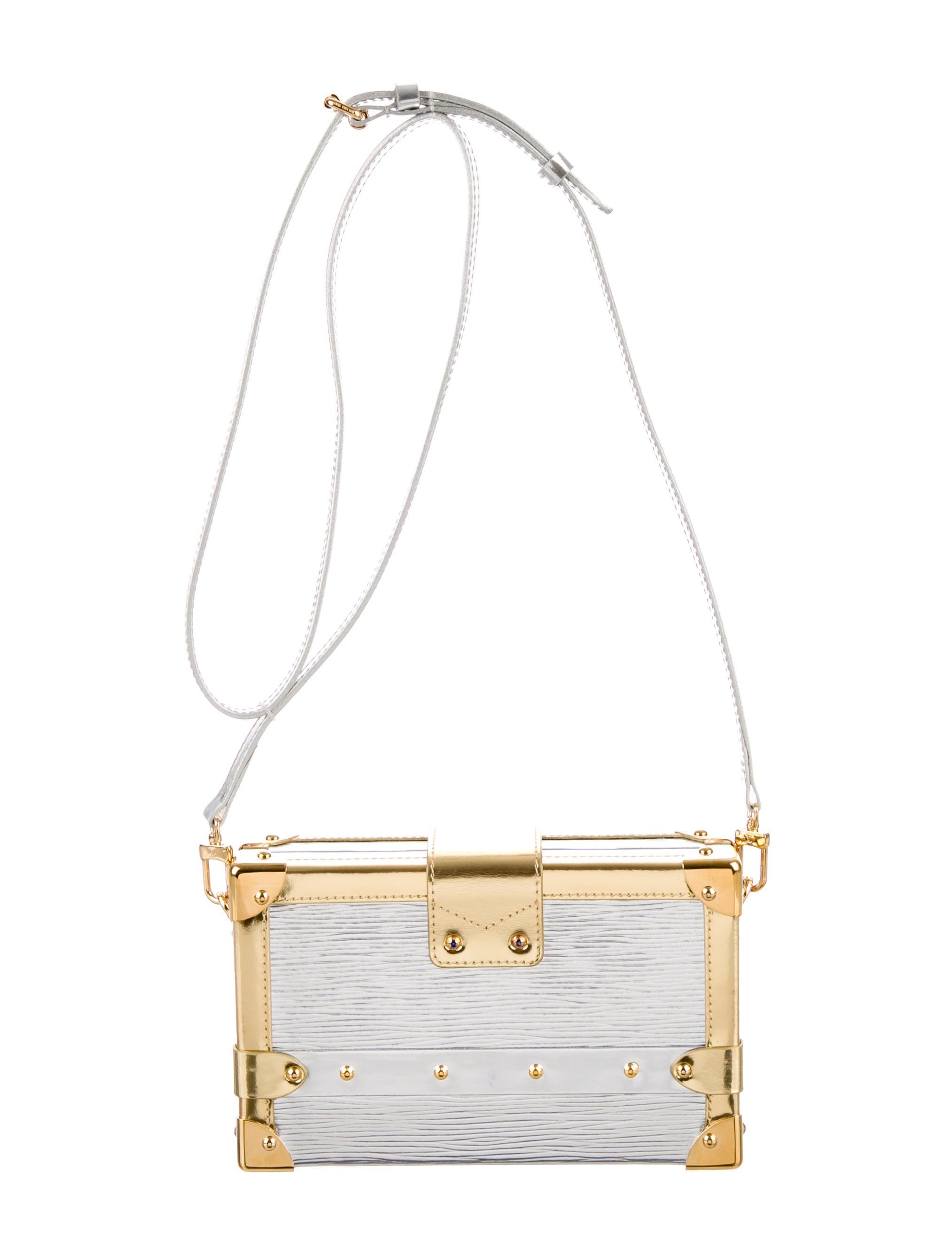 louis vuitton argent epi petite malle bag handbags lou61927 the realreal. Black Bedroom Furniture Sets. Home Design Ideas