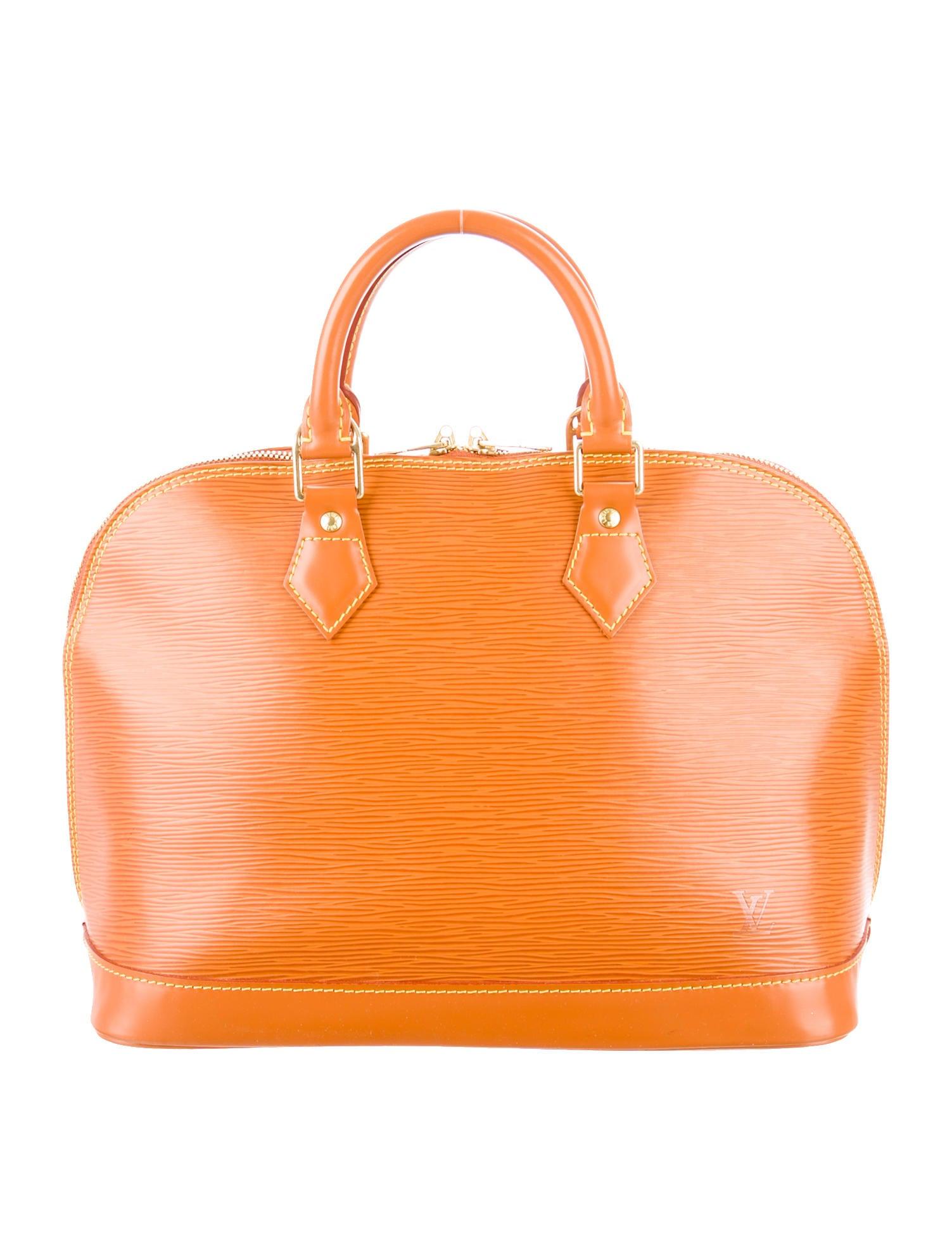 Louis vuitton epi alma pm handbags lou63742 the realreal for Louis vuitton miroir alma bag price