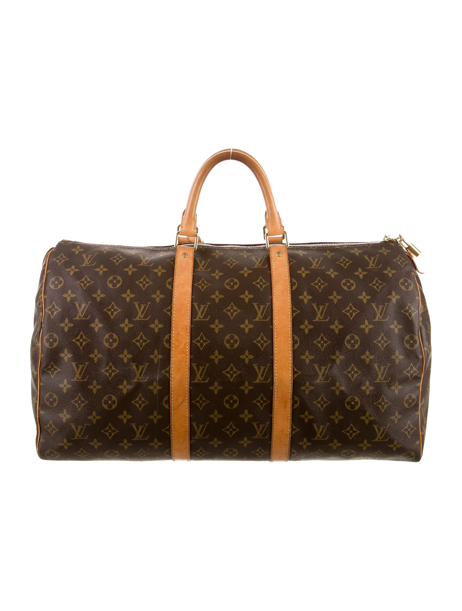 louis vuitton monogram keepall 55 handbags lou63895 the realreal. Black Bedroom Furniture Sets. Home Design Ideas