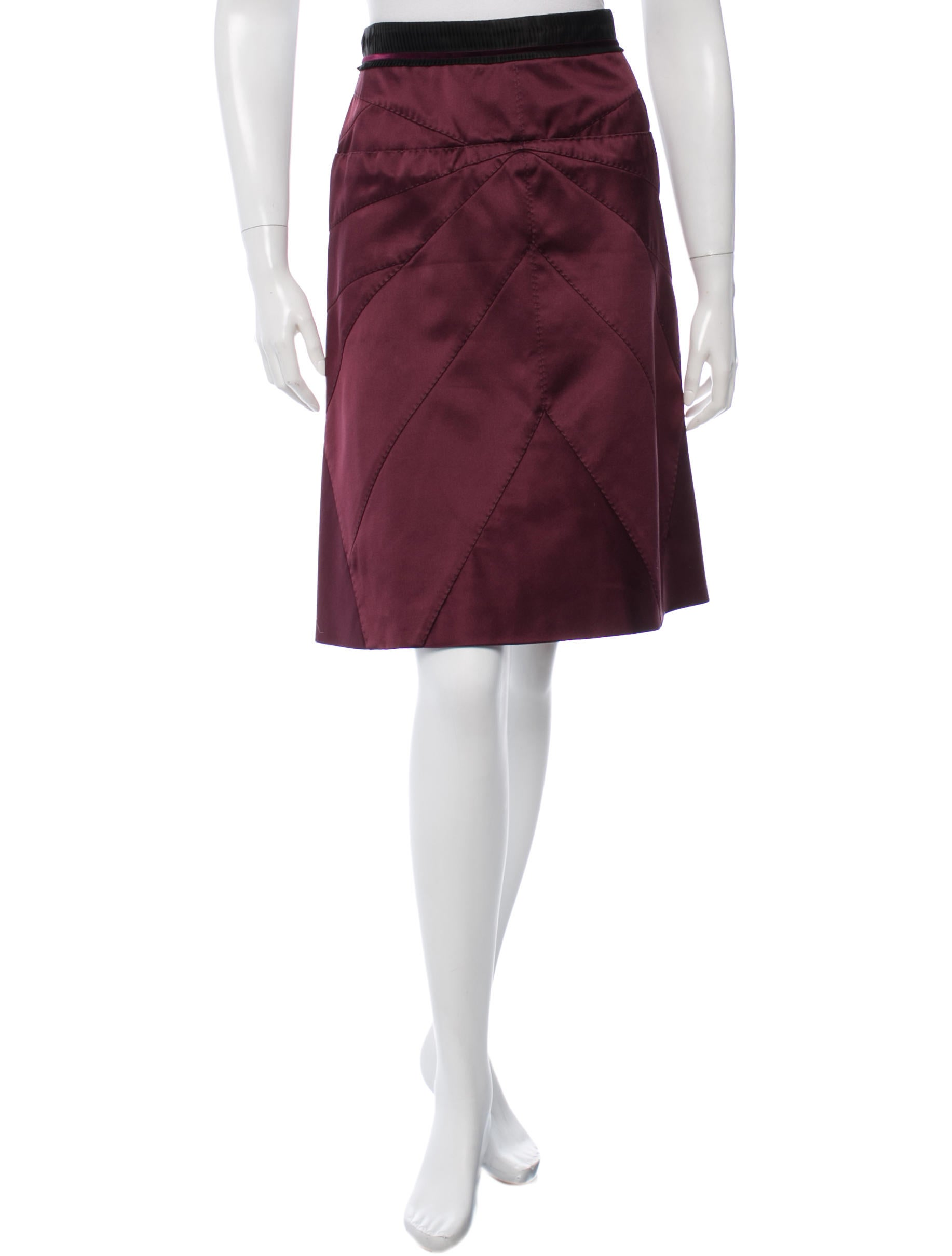 louis vuitton silk a line skirt clothing lou64692