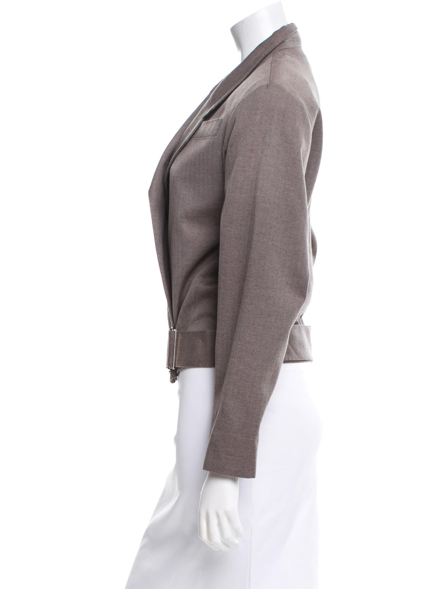 louis vuitton cropped asymmetrical jacket clothing. Black Bedroom Furniture Sets. Home Design Ideas