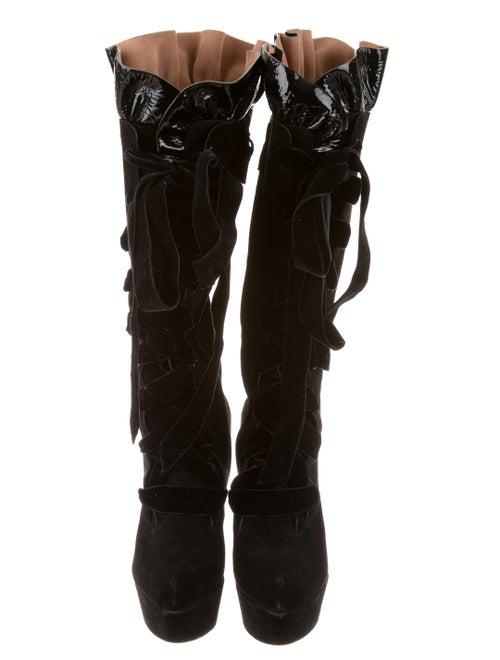 2cc3a665f90 Louis Vuitton Suede Cancan Boots - Shoes - LOU68145