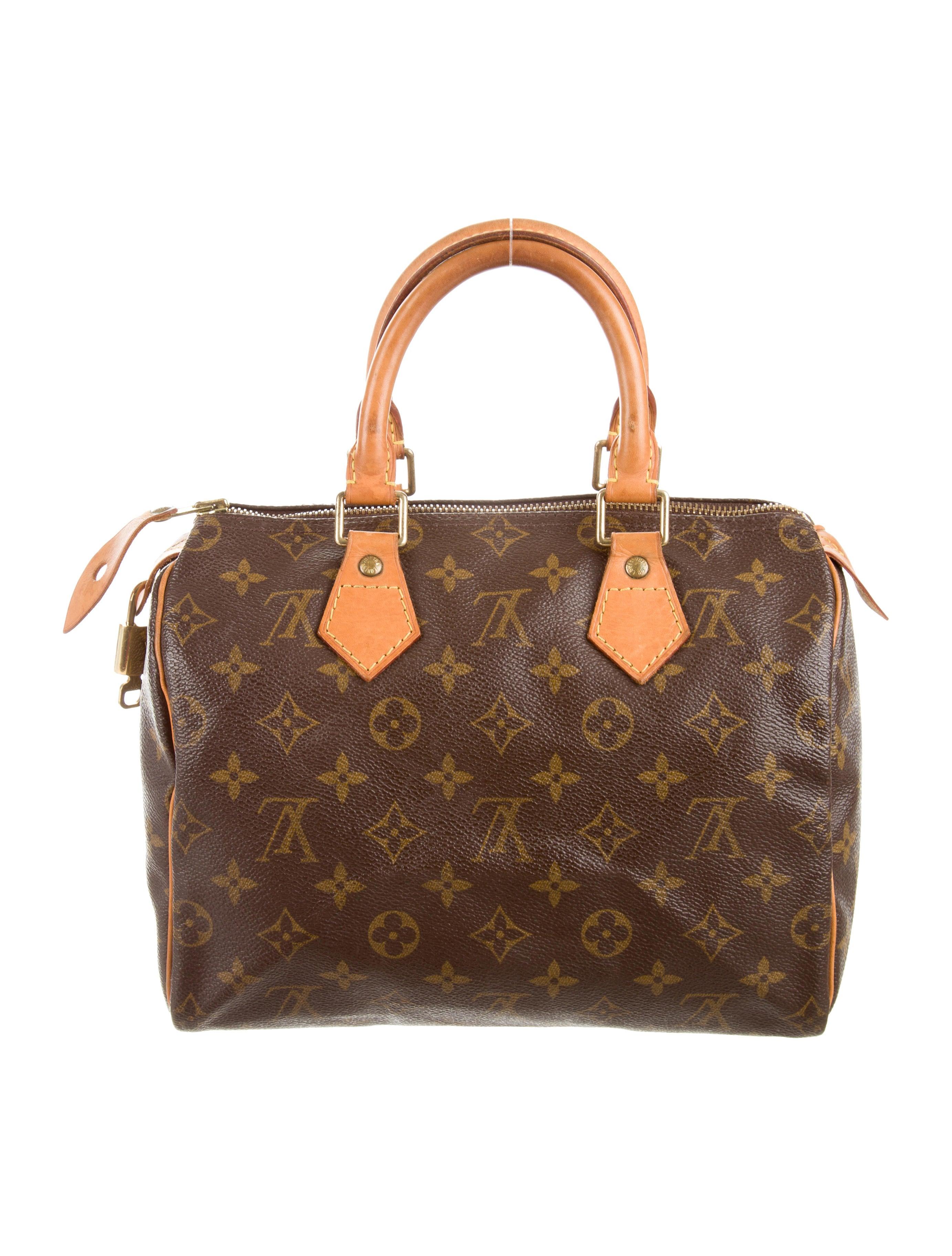 louis vuitton monogram speedy 25 - handbags