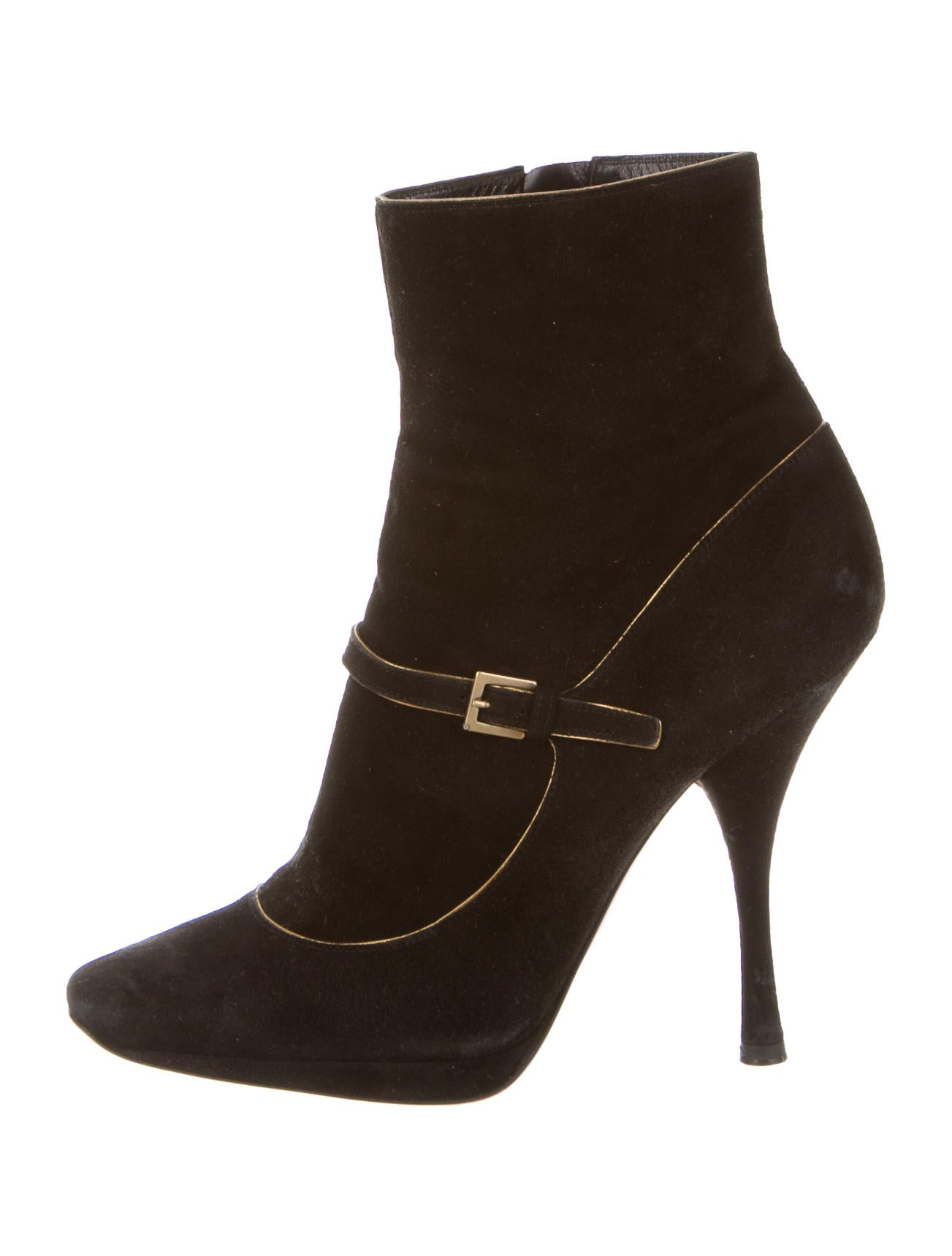 louis vuitton suede toe ankle boots shoes