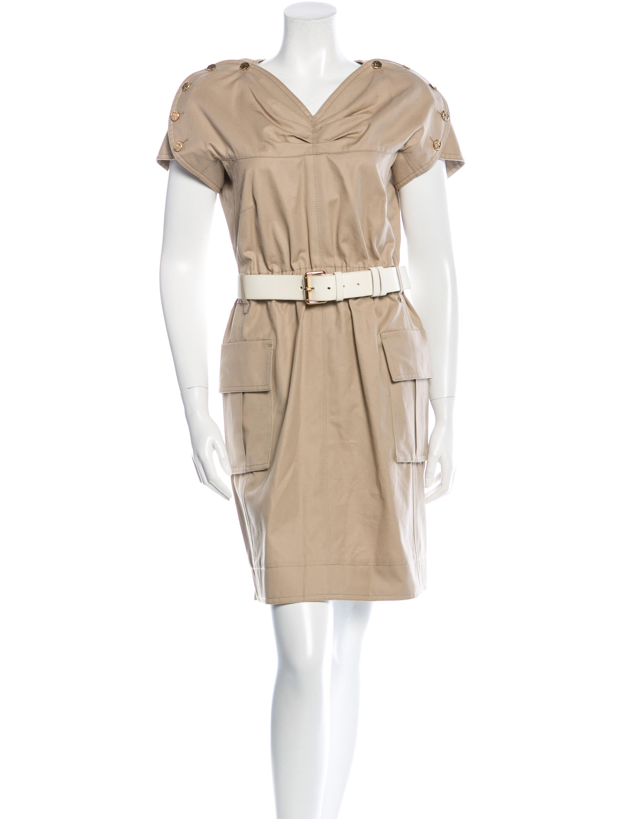 louis vuitton a line belted dress clothing lou71854