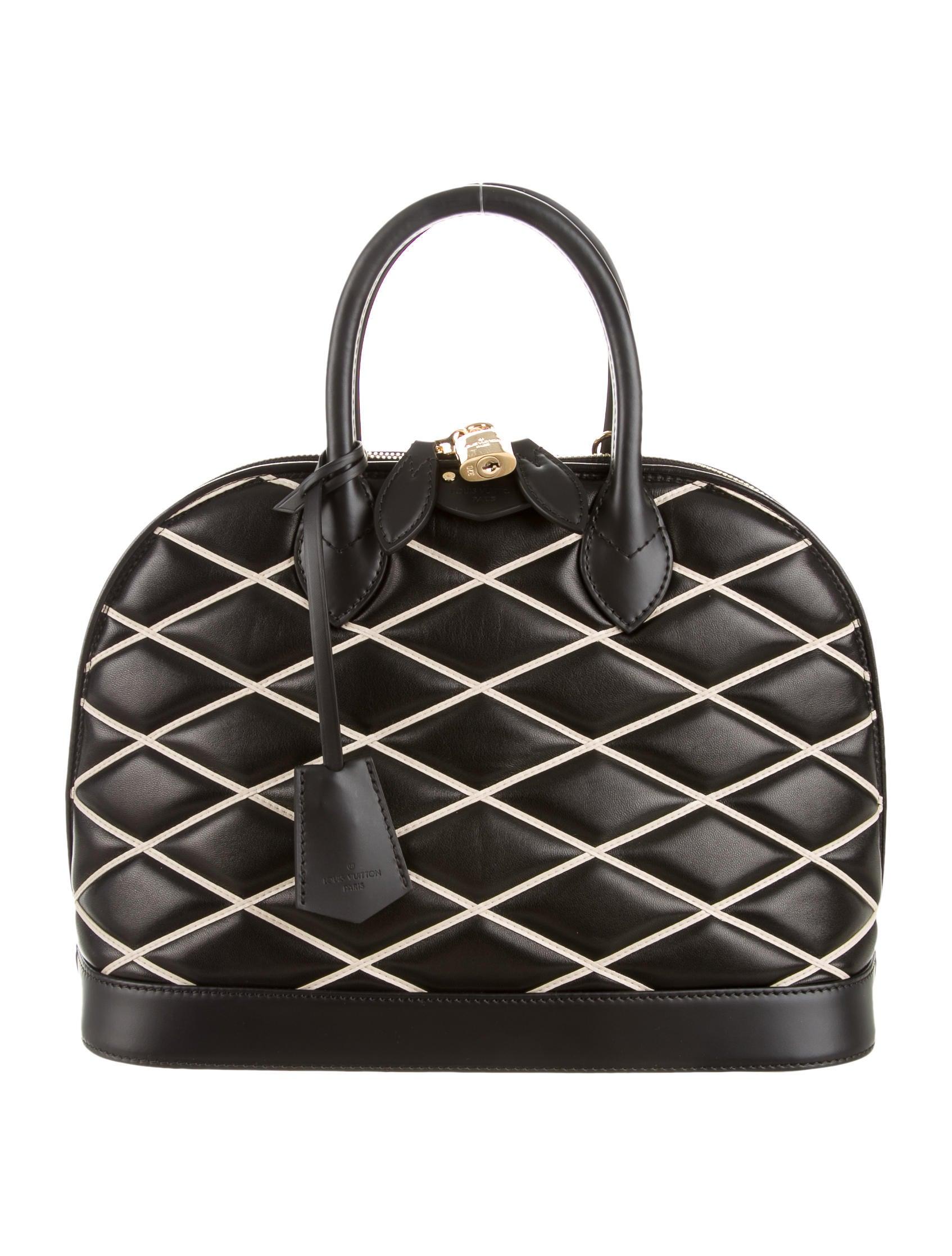 Louis Vuitton Alma Handbag Malletage Leather Pm JaAsPQ6s