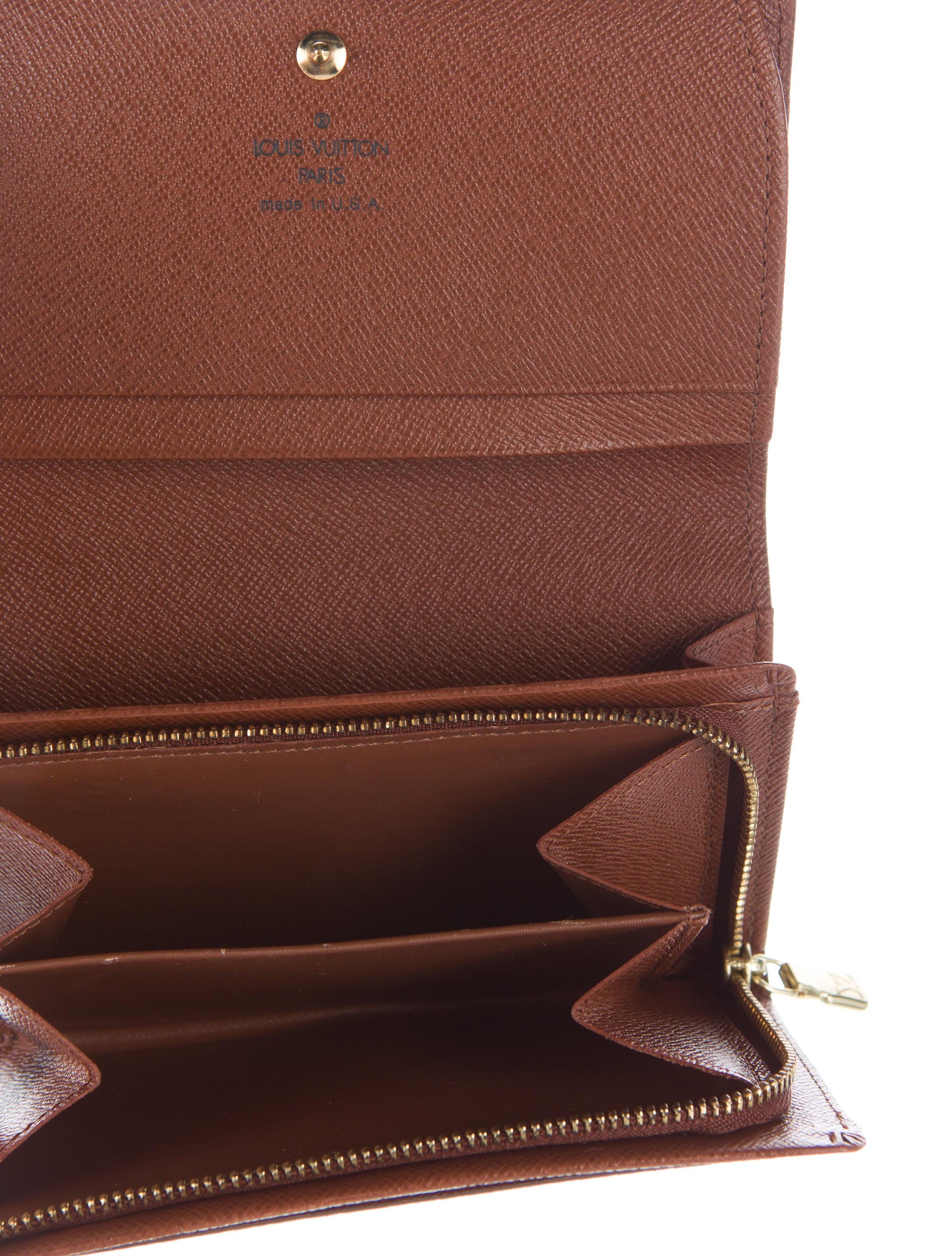 Louis vuitton porte monnaie tresor wallet accessories for Porte monnaie wallet