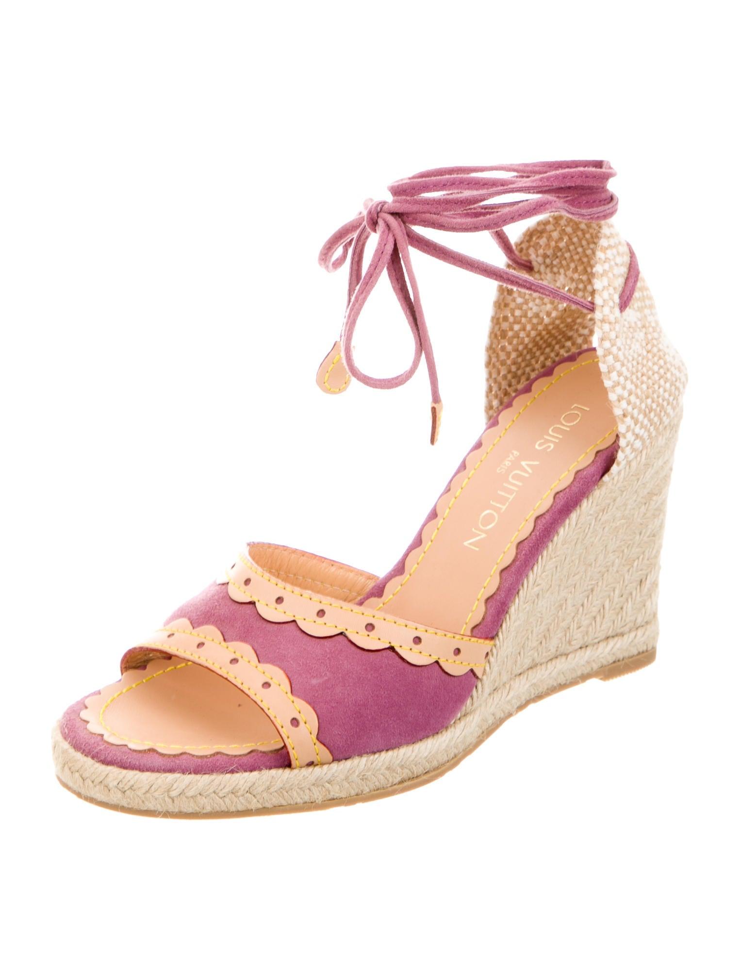 louis vuitton espadrille wedge sandals shoes lou85791