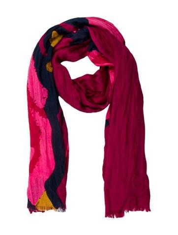 Roses Wool & Silk Printed Scarf