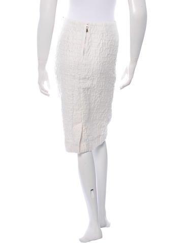Textured Knee-Length Skirt