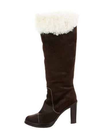 Suede Over-the- Knee Boots