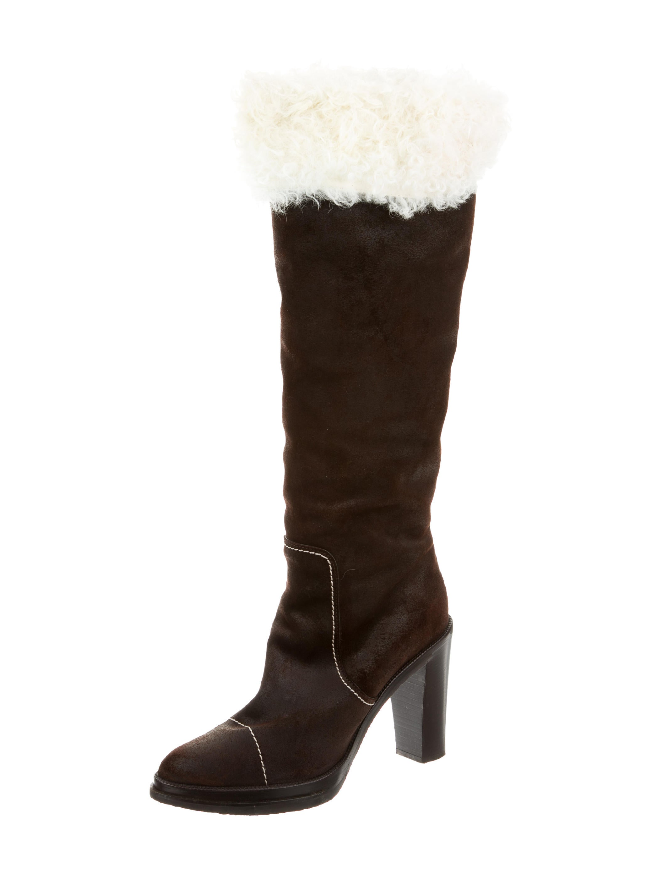 louis vuitton suede the knee boots shoes