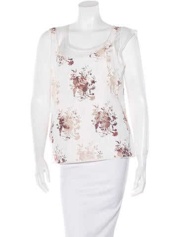 Louis Vuitton Floral-Printed Coated Top None