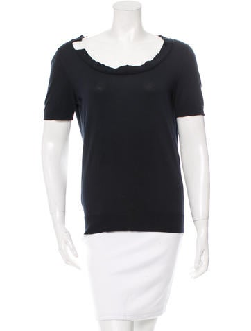 Louis Vuitton Short Sleeve Cowl Top None
