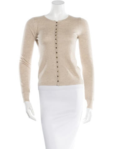 Louis Vuitton Cashmere Silk-Blend Cardigan None