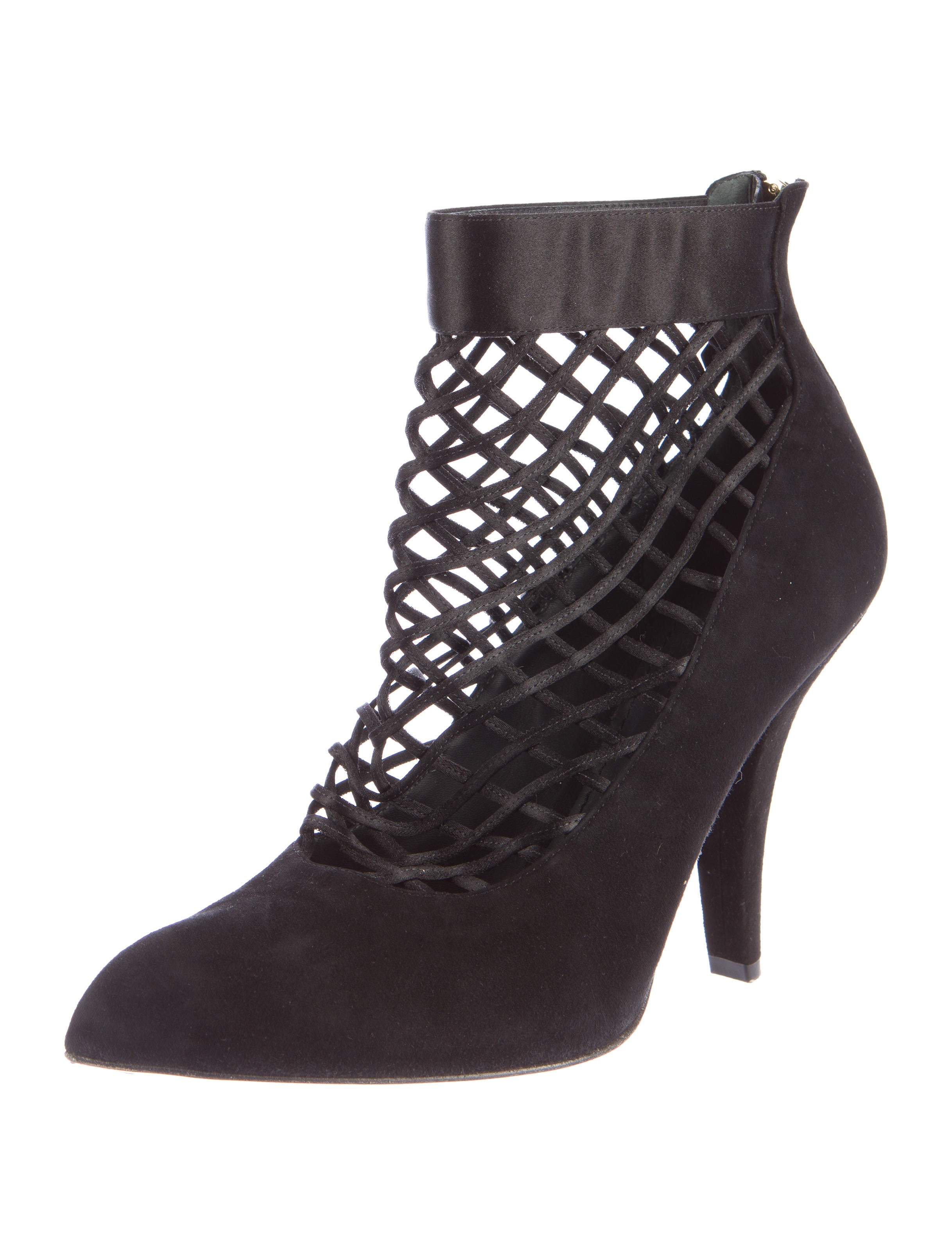 louis vuitton suede cutout ankle boots shoes lou89373