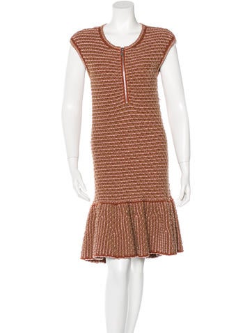 Louis Vuitton Knit Flounce Hem Dress None