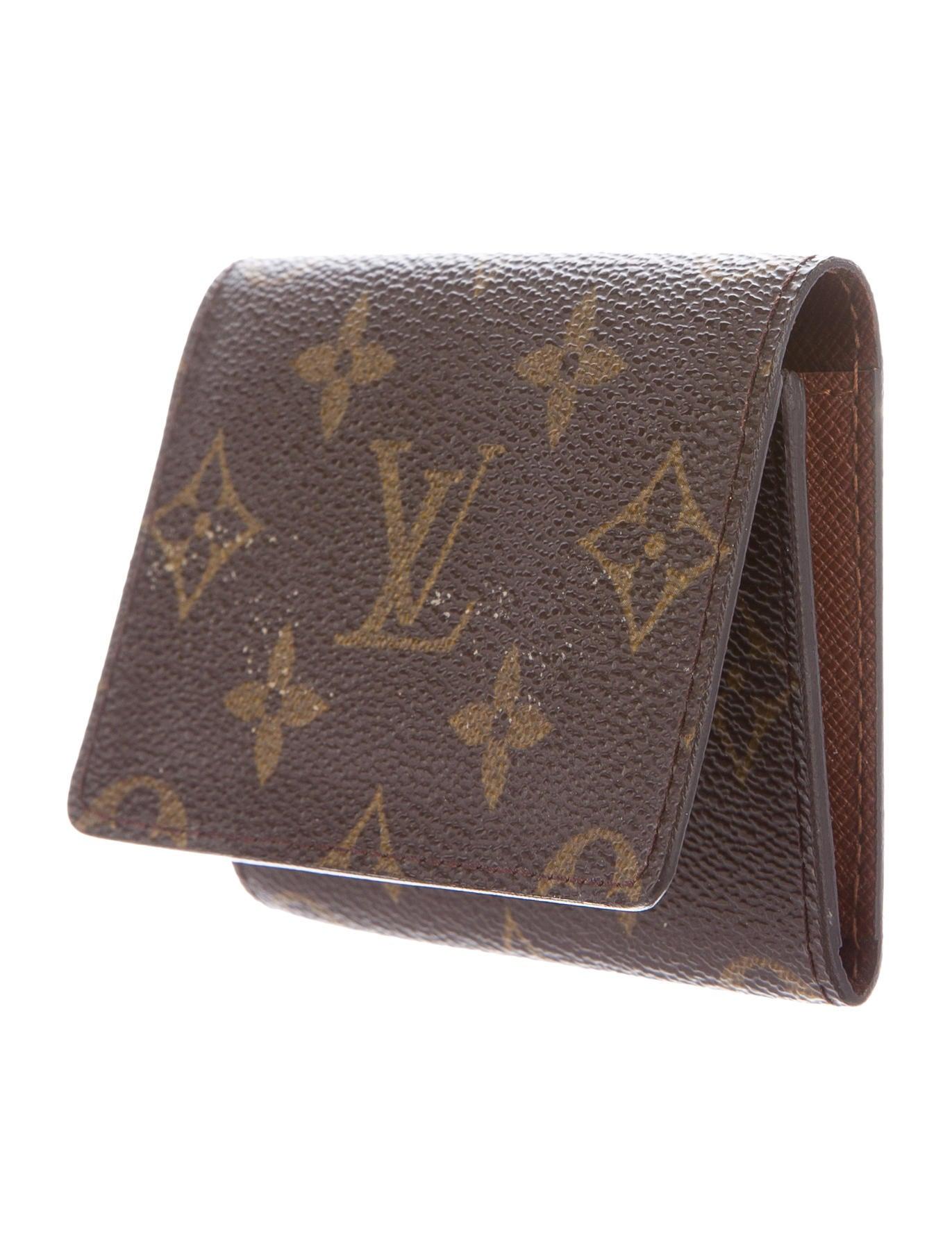 Louis vuitton monogram business card holder accessories lou90019 monogram business card holder colourmoves Images