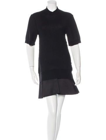 Louis Vuitton Flounce-Hem Knit Dress None