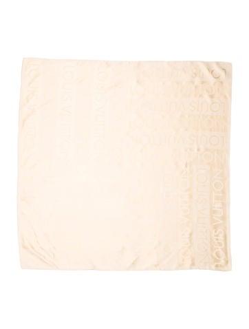 Louis Vuitton Beige Monogram Scarf None