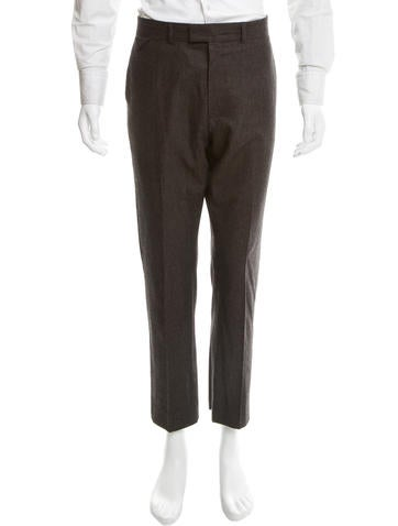 Louis Vuitton Patterned Knit Wool Pants None